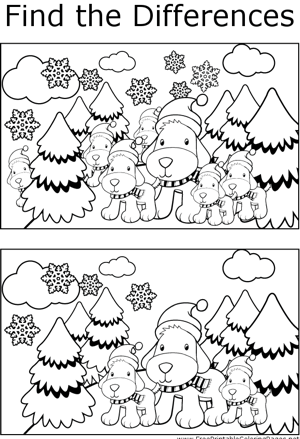 FTD Dogs in Trees coloring page