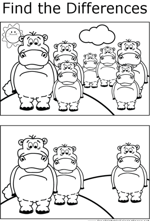 FTD Hippos coloring page