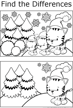 FTD Holiday Kittens coloring page