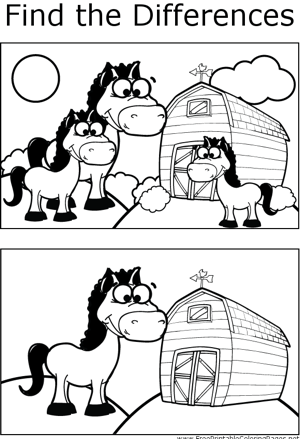 FTD Horses coloring page