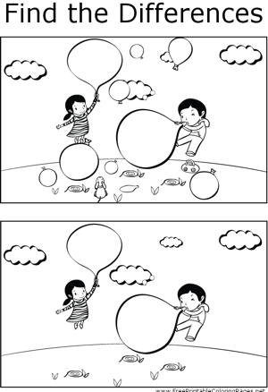 FTD Kids Blowing Up Balloons coloring page