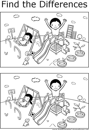 FTD Kids Playground Coloring Page