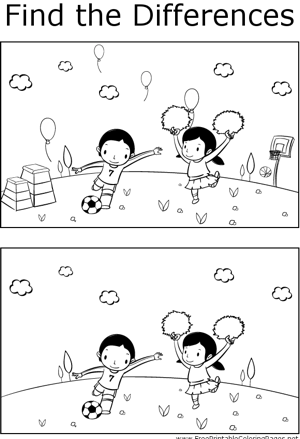 FTD Kids Playing Soccer coloring page