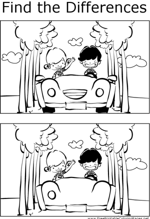 FTD Kids in Car coloring page