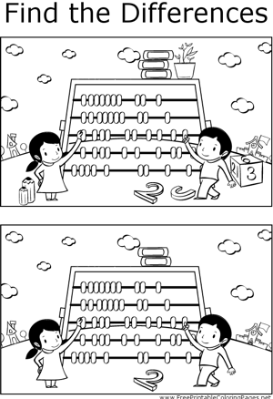 FTD Kids with Abacus coloring page