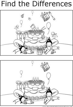 FTD Kids with Birthday Cake coloring page