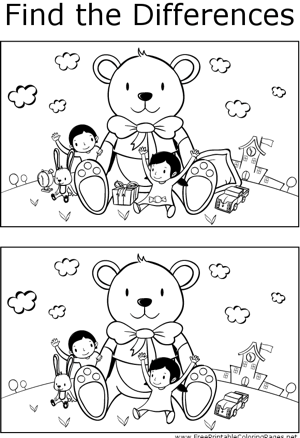 FTD Kids with Teddy Bear coloring page