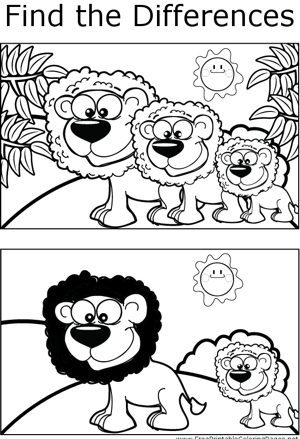 FTD Lion coloring page