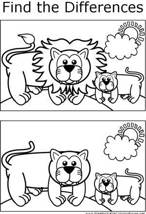 FTD Lionesses coloring page