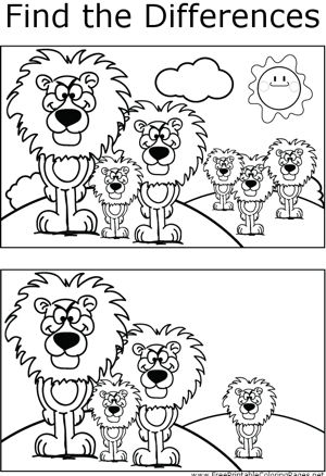 FTD Lions coloring page