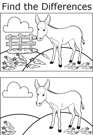 FTD Mule coloring page