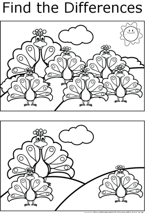FTD Peacocks coloring page