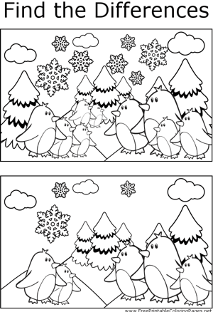 FTD Penguins in Snow coloring page