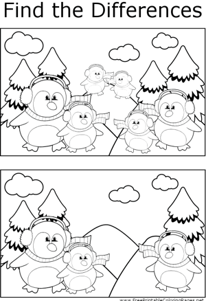 FTD Penguins with Earmuffs coloring page