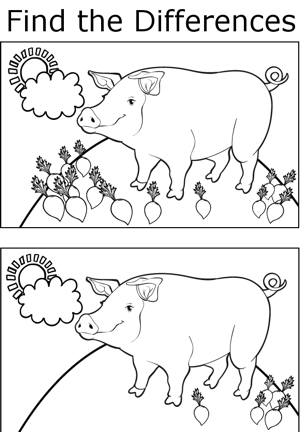 FTD Pigs coloring page