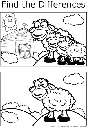 FTD Sheep coloring page