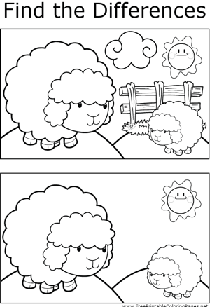 FTD Sheep on Hill coloring page