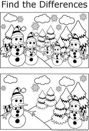 FTD Skinny Snowmen coloring page