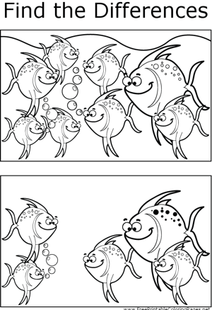 FTD Spotted Fish coloring page