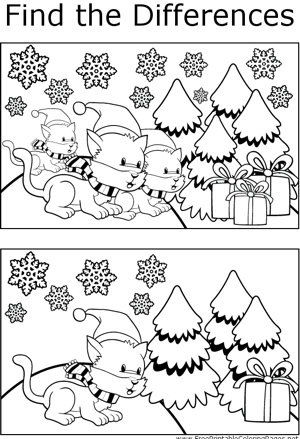 FTD Winter Cats coloring page