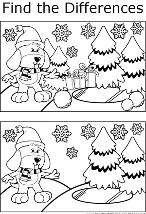 FTD Winter Dog coloring page