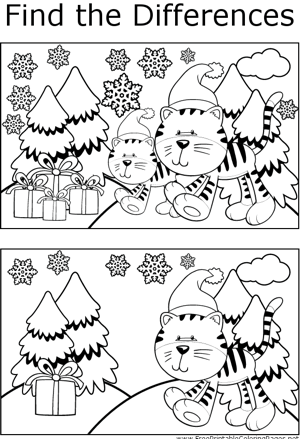 FTD Yuletide Cats coloring page