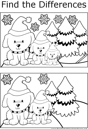 FTD Yuletide Dogs coloring page