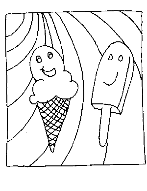 Frozen Treats Coloring Page