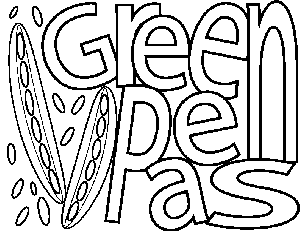 Green Peas coloring page