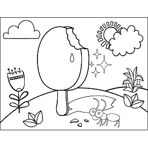 Ice Cream Bar Coloring Page