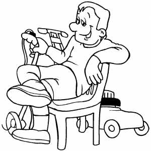 Gardener Resting coloring page