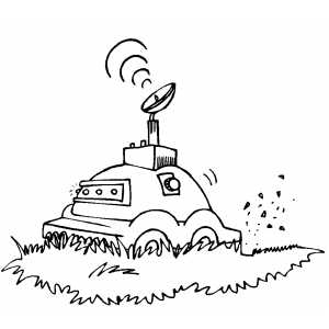 Lawnmower coloring page