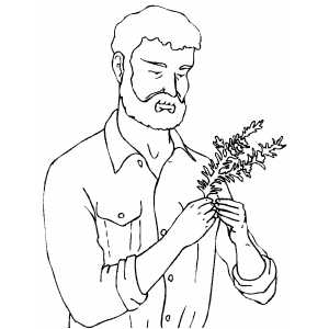 Man With Rosemary coloring page