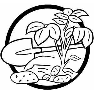 Planting Tree coloring page