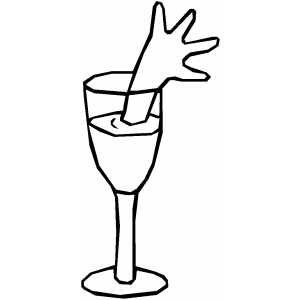 Arm In Wine coloring page