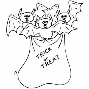 Bats In Bag coloring page
