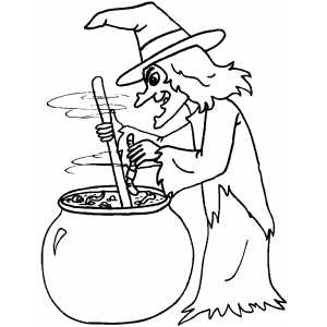 brewing witch coloring page - Coloring Pages Witch