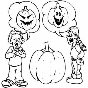 Carving Pumpkin coloring page