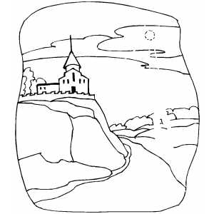 Church With Ghosts coloring page