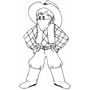 Cowboy Costume coloring page