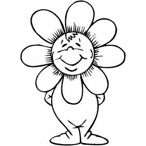 Flower Costume coloring page