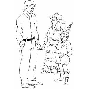 Kids In Costumes coloring page