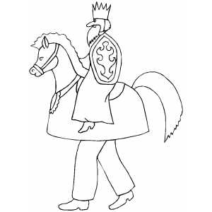 Knight Costume coloring page