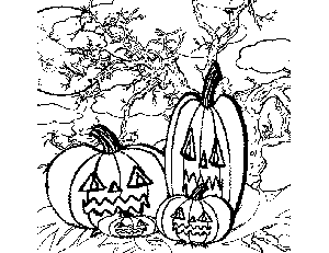 Pumpkin Family coloring page