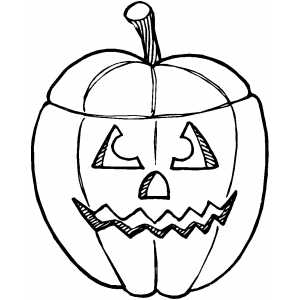 Pumpkin With Cut Top coloring page