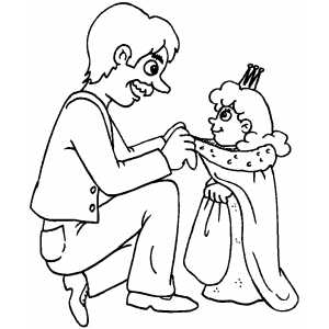 Putting On Costume coloring page