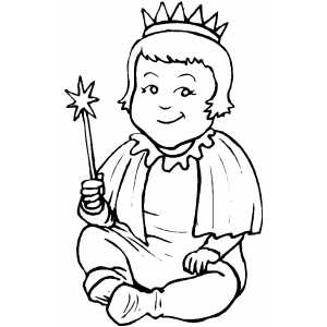 Queen Costume coloring page
