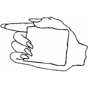 Right Hand With Sign coloring page