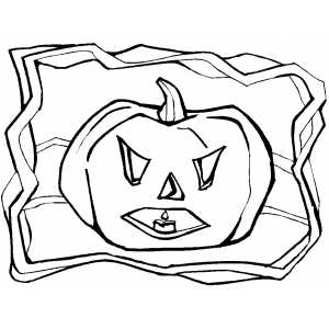 Scaring Pumpkin coloring page