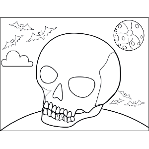 Scary Skull coloring page